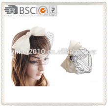 Big bow tie with charming mesh headband