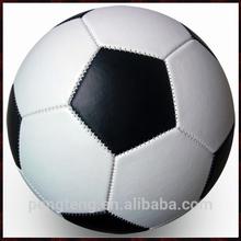 Black and white PU soccer ball