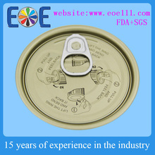 Jamaica 300 metal condensed milk round high quality easy open end / 73mm tinplate proccessed food caps supplier