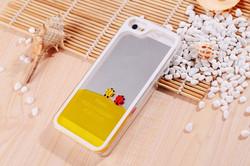 Newest cute organic glass animal girl mobile phone case