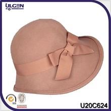 sombreros de copa barato señoras de ala ancha de fieltro de lana sombrero
