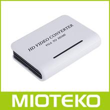 the good price laptop VGA to HDMI converter adapter box rca to vga converter box with audio input