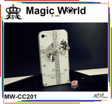 Bow rhinestone cellular phone accessories
