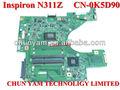Venta al por mayor cn- 0k5d90 k5d90 placa base del ordenador portátil sistema de junta para dell inspiron n311z v131& placa base profesional de prueba totalmente