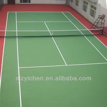 Yichen good rebound portable tennis floor mats/basketball/volleyball/badminton