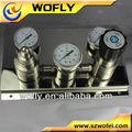 todos de aceroinoxidable de gas natural de regulación de presión de la estación de medición de hecho en china