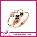 Rose plateó los brazaletes de la marca de imitación de la joyería