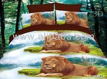 lion printed bedding set
