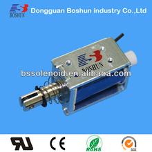 BS-0837 push pull solenoid,open frame electromagnet