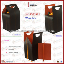Foldable PU Leather Wholesale Wine Bags For 4 Bottles