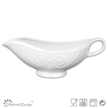antique shape embossed stoneware white gravy boats french style ceramic gravy train