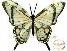 Ornamental handmade feather butterfly