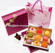 moon cake box printing / tin moon cake box, VietNam supplier recycled cardboard food box/cake box packaging