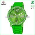 sunray dial crystal case 5 atm relógio resistente aquamarine relógios