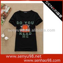 OME& ODM black popular t-shirt for customed printing