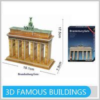 Brandenburg Gate 3D Models Famous Buildings Puzzle With All Certificates
