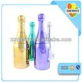 großen champagner kunststoff flasche wasser mit unterschiedlichen farbbeschichtung
