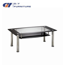 2015 two layer glass coffee table design CTA-3013