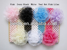 CF0802 New born todder wholesale large lace flower headband