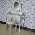 De madera dura y mdf de plata modelo mesa de vestir de la vanidad de mesa hacer- up mesa aparador de madera para los muebles del dormitorio