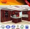 2014 new European style rustic PVC kitchen cabinet with wine rack