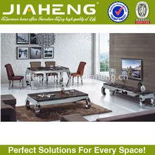 modern marble top steel legs wood carved living room set