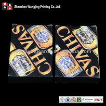 Shenzhen Wangjing Manufacturer Liquor Brands Playing Cards
