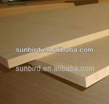 3-25mm thickness Plain/Raw E1, E2 MDF panel/sheet/board for furniture