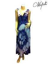 maxi dress Wholesale fashion Tie dye Colorful Dress,handmade tie dye