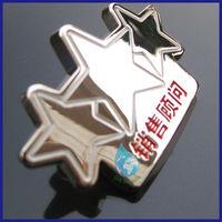 Star shape metal lapel pin/new gadgets 2014 enamel five star lapel pin