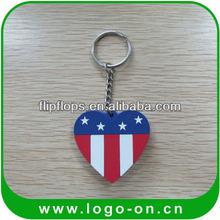 pvc custom rubber keyring