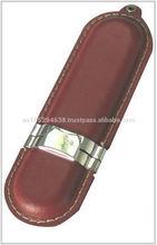 LEATHER USB 2.0 FLASH DRIVER - 7 YEAR WARRANTY, PK-LR08 - 128MB, 256MB, 512MB, 1GB, 2GB, 4GB, 8GB, 16GB,