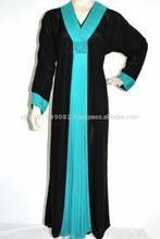 plain cheap wholesale Abaya's with lace - latest abaya's pakistan manufacturer muslim dress new ladies dress modern abaya dress