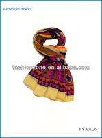 2014 New design stock fashionable polyester chevron scarf