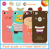 3d cartoon silicone,silicone skin case,mobile phone silicone case