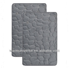 "MEMORY FOAM BATH MAT SET : SET OF 2 MATS, NON SKID, DAY SPA, 17"" X 24"""