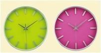 Aluminium wall clock !