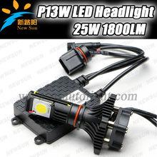 Car P13w led bulb auto led driving head light 25w 1800lm car front led light 12v Cree cxa1512 led head lamp