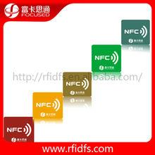 China supplier Ntag203 rfid key tags/NFC keychains/llaveros T5577 chip logo printable