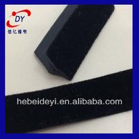 flock lined window rubber for car window, flack rubber seal tape