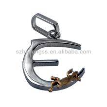 new products alphabet letter,alphabets E pendant designs gecko decorated