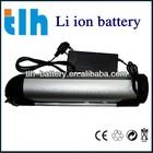 Bottle style 36v lithium ion battery pack for ebike 12Ah