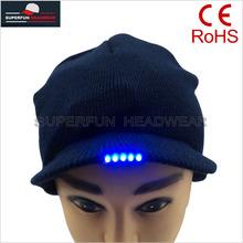 promotional popular LED cap knit cap