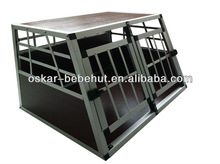 Aluminum Cage for Pet Dogs with Double Door to traveling in the car