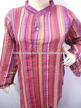 KTMK-3 Indian Fashion Standing Collar Mens Kurta Handmade Pure Cotton Kurtas From Jaipur Free Size Unisex