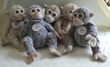 very cute baby plush toy monkey in brown color