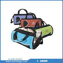dream duffel,fancy travel duffel bag,two compartment duffel bag