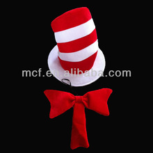 Party velvet funny red white strip The Cat in the Hat products