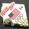 2014 USA flag & sports logo lapel pin