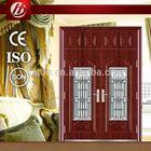 steel entry door with metal frame glass inserts steel double entry door